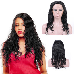 Top Quality 130% Density Lace Front Human Hair Wigs For Black Women Deep Wave Brazilian Remy Hair Natural Black With Elastic Straps