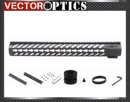 Vector Optics Tactical KeyMod 16.5 Inch Rifle Free Float Handguard Picatinny Rail Mount fit .223 AR15 M4 M16 Black Color
