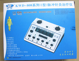 6 Output Channels Acupuncture Machine Electric Body Massage Massager KWD 808 I Hot sale Free shipping