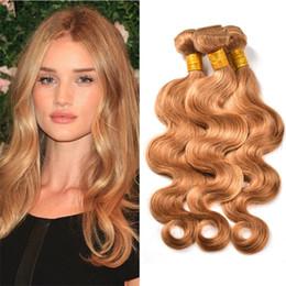 Wholesale Miel Blonde Cheveux brésiliens Bundles Brazilian Body Wave Marron clair Miel Blonde Cheveux Virgin Hair Extensions de cheveux humains