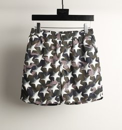Five-pointed Star Printing Thin Style~Fast Dry Fabric~Men Five Pants Shorts~Beach Pants