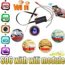 Compra Online Las mini cámaras digitales-Cámara espía 1080p HD mini portátil de cámara oculta DIY módulo P2P Wifi inalámbrico grabador de vídeo digital para la aplicación de visión remota S06