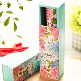 Wholesale Flower Wedding Invitations Love Birds Scoll Invitation Card Box Free Printing Inner Sheet Bell Party Invitations New Arrival