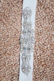 Cheap White Luxury Bling Bridal Sashes & Belts Fashion wedding dress sashes beads Sinning Rhinestones wedding belt bridal accessory
