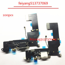 100pcs High quality For iPhone SE Headphone Audio Jack Flex Cable Charger Charging Port USB Dock Connector
