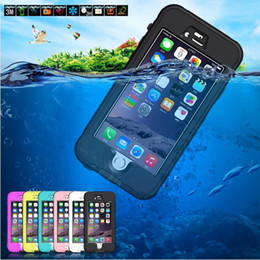 Hot Universal Waterproof Case Fingerprint Touch Screen Diving Underwater Shockproof Protective for Apple iPhone 6 6s 7 plus Watertight Cover