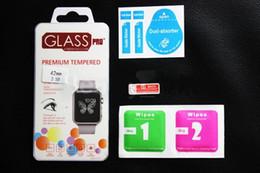 Promotion lcd iwatch Pour Apple Watch iwatch 38mm 42mm 0.2mm 2.5D 9H en verre trempé Flim LCD Protector écran avec le paquet au détail