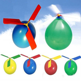 Wholesale 1000pcs flying Balloon Helicopter DIY balloon airplane Toy children Toy self combined Balloon Helicopter JF
