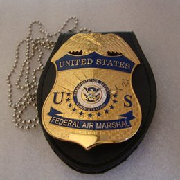 Wholesale American metal badge US homeland security DHS transport safety management Aviation badge gold