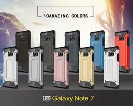 Protection téléphone cellulaire en Ligne-Pour Apple iphone 7 plus cas 6 6S iphone7 Plus Samsung Galaxy Note 7 S7 bord Acier blindage TPU PC housse de protection pour téléphone cellulaire