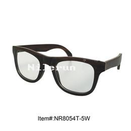 vintage antique black wood frame optical eyeglasses