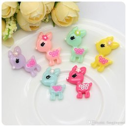 The new resin jewelry accessories to wear flowers sika deer diy simulation phone beauty accessories Factory direct sale