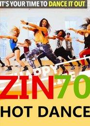Free Shipping 2017.8 New South America HOT DANCE ZIN 70 Comprehensive dances ZIN70 Video DVD + Music CD