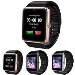 2017 apple iphone smart watches GT08 Smart Watch Smartwatch avec carte SIM Slot NFC Health Watchs pour Android Samsung et IOS Apple Iphone Watches Haute qualité apple iphone smart watches autorisation