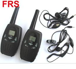 Deux radios bidirectionnelles vente à vendre-Vente chaude radio portable T628 Walkie Talkie avec casque UHF 400-470MHz 1W 22CH VOX Radio bidirectionnelle portable avec écouteurs 2pcs