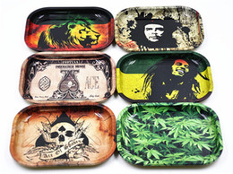 Wholesale Metal Tobacco Rolling Tray cm cm cm Handroller Rolling Trays Rolling Case Machine Tools Tobacco Storage Tray