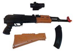 Wholesale Light Up BATTERY OPERATED TOY AK47 MACHINE GUN RIFLE Military