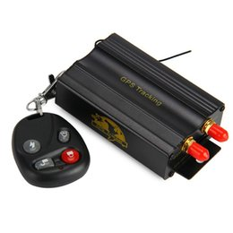 Dispositivos anti-robo de coches en venta-TK103B Vehículo Car GPS Tracker SMS GPRS En tiempo real de alarma Anti-robo Localizador de dispositivos de seguimiento con control remoto Antena Mic Relevo