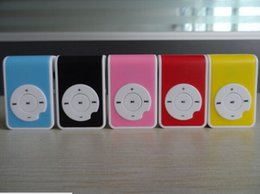 Promotion mp3 mémoire lecteur 1gb Vente en gros - Nouveau lecteur portable portatif portable magnifique avec 5 couleurs Candy Pas de lecteur de carte mémoire avec slot TF 10pcs / lots