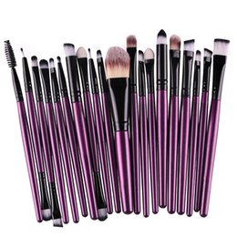 Mybasy 20pcs lot Professional beauty Makeup Brushes Set Powder Foundation Eye shadow Eyeliner Brushes Tool(Purple+Black)