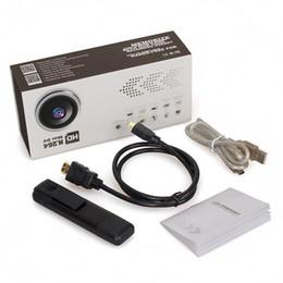 Mini cámaras wi fi en Línea-32GB 1080P de gran angular portátiles Wi-Fi cuerpo de la cámara desgastada / Movimiento activado / iOS-Android App / visión nocturna / mini cámara portátil de seguridad de la pluma