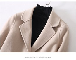 2017 Free Shipping high quality good fabric 100% wool lapel neck with one botton long warm outwear