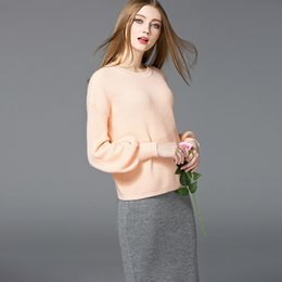 Wholesale Fashion Turtleneck Sweater for Women Relaxed Thicken Long Puff Sleeve Sweaters Pure Color Knit for Winter