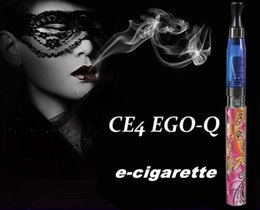 Sacoche ego ce4 blister simple à vendre-Cigarettes électroniques multi-couleurs CE4 EGO-Q Blister kit d'emballage E-cigarettes 1100mah batterie 1.6ML Clearomizer E-cig