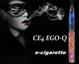 Ego blister ce4 seul paquet à vendre-Cigarettes électroniques multi-couleurs CE4 EGO-Q Blister kit d'emballage E-cigarettes 1100mah batterie 1.6ML Clearomizer E-cig