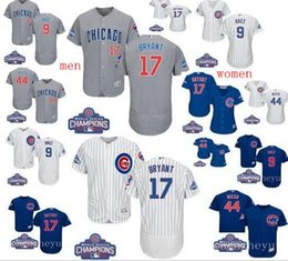 Wholesale World Series patch Men Chicago Cubs Javier Baez Kris Bryant Anthony Rizzo women baseball jerseys