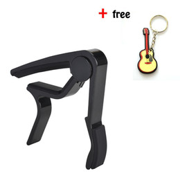 Wholesale black Guitar Capo Musicians Recommended Capo for Acoustic Electric or Guitar Perfect for Banjo and Ukulele Aluminum