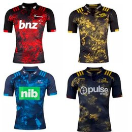 Wholesale Rugby League New Zealand Super Rugby Union Hurricanes High temperature heat transfer printing jersey Rugby Shirts