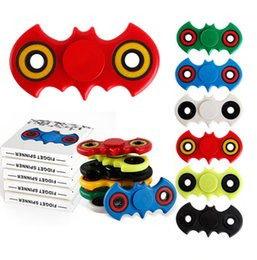 Batman Hand Spinner Fidget fingertips spiral fingers Adults Stress Relief Kids Gift toys EDC Hand Spinners with Retail Box 7 Colors DHL Free