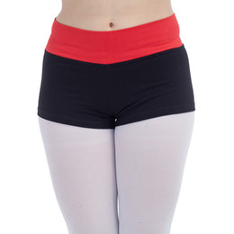 Wholesale Dance Shorts Waisted Roll Down Dance Tight Shorts for Ladies Modern Dance Girls Performance Costume SHORTS ONLY