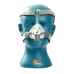 BMC NM4 Nasal Mask With Headgear and SML 3 Size Silicon Gel Cushion For CPAP & Auto CPAP Sleep Snoring Apnea Health Care Health & Beauty
