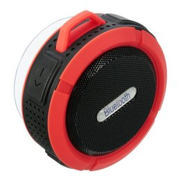 2019Waterproof C6 bluetooth speakers Chuck dustproof Mini portable outdoor Shower speaker with 5W Speaker Suction Cup 5 colors Free send DHL
