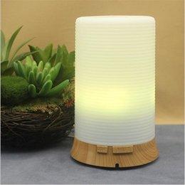 Купить Онлайн Древесное масло-Увлажнитель воздуха Эфирное масло Ароматерапия Диффузор аромалампу Electric Aroma Диффузор Mist Maker для дома-Вуд светодиодные 7 цветов