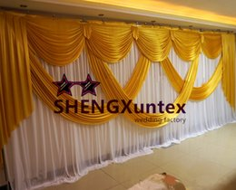 3m*6m Wedding Backdrop Curtian Include Swag Drape And Pipe Stand \ Stent