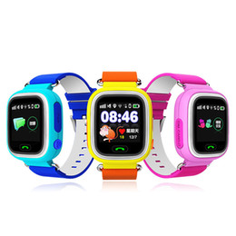 Q90 GPS Phone Positioning Fashion Children Watch 1.22 Inch Color WIFI Touch Screen SOS Smart Watch
