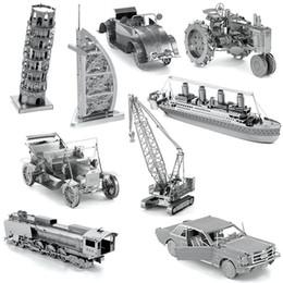 Wholesale Finger Rock D Metal Puzzles DIY Model Man made Space Shuttle Solden Hind Vintage car Golden Gate Bridge Children Jigsaws toys Present Gift