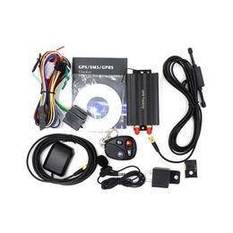 Compra Online Dispositivos anti-robo de coches-TK108B Car GPS Tracker GPS GSM GPRS coche del vehículo en tiempo real antirrobo localizador de la alarma de seguimiento del dispositivo con antena de control remoto