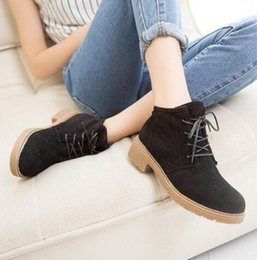 Wholesale The spring and autumn period and the new Martin boots female British wind system USES female boots with round head short boots