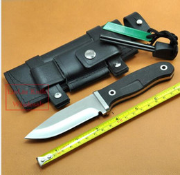 Wholesale Hunting Fixed Knife ATS Blade G10 Handle Camping Knife Outdoor hunting Knives Leather Sheath Flintstones