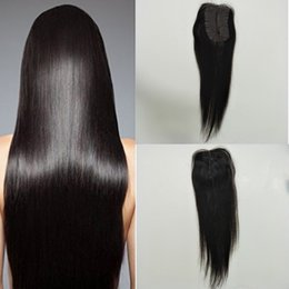 New Products 8A 1B Natural Color #1jet black Mini rectangle Lace Closure Straight 100% Human Hair Extensions Unprocessed Virgin Hair