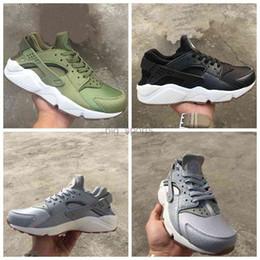 Huraches verdes en Línea-2017 Air Huarache I Zapatillas para Hombre Mujer, Verde Negro Zapatillas Gris Triple Huaraches Athletic Zapatillas Hombre huraches Zapatos Deportivos