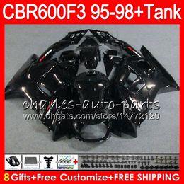 gloss black 8 Gifts 23 Colors For HONDA CBR600F3 95 96 97 98 CBR600RR FS 2HM10 CBR600 F3 600F3 CBR 600 F3 1995 1996 1997 1998 black Fairing