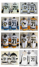 Penguins #71 Evgeni Malkin White Black Yellow Blue CCM Throwback New Away 2017 Stanley Cup Final Patch Stitched Pullover Hoodie Sweatshirt N