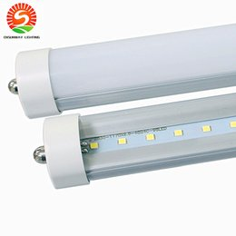 High Quality FA8 cooler lights 45W led t8 tube bulb lights 8ft 2.4m 2400mm 4ft 1200mm led fluorescent bulb frosted clear cover