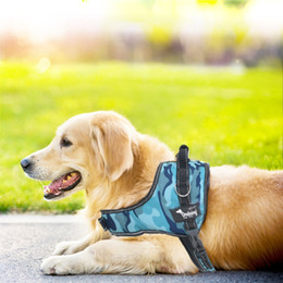 High Quality Adjustable Pet Vest Harness No Pull Padded Reflective With Leash