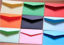 Wholesale Pure color envelope for Membership Card Small Greeting Card Storage Paper Envelopes